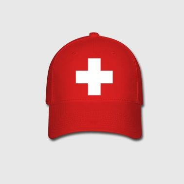 cross swiss red - Baseball Cap
