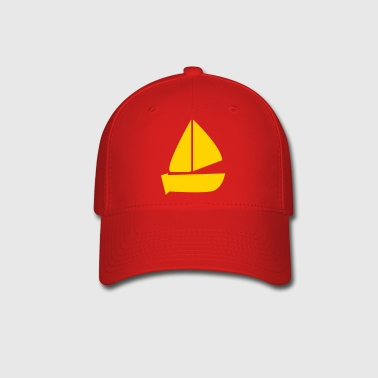 plain sailboat boating icon - Baseball Cap