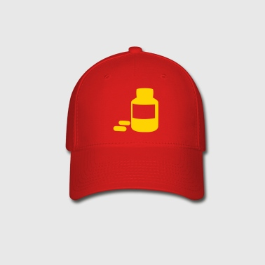 medicine bottle with pills - Baseball Cap