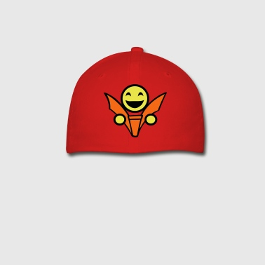 smiley reading face - Baseball Cap