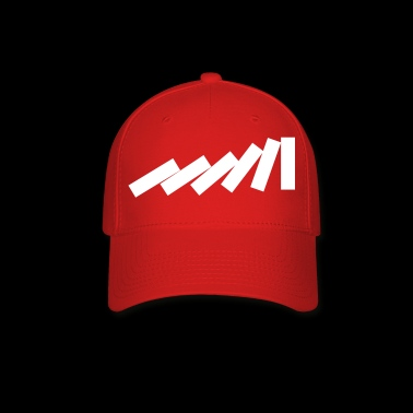 Dominos Falling Down in a chain - creative design - Baseball Cap