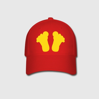 big toes shape of the base of your feet - Baseball Cap