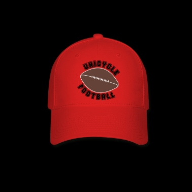 Unicycle Football Text - Baseball Cap