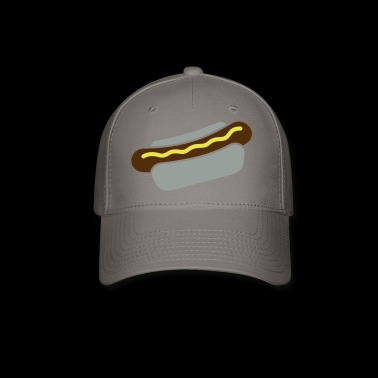 hot dog with mustard - Baseball Cap