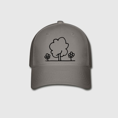Tree with flowers - Baseball Cap