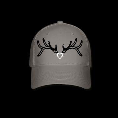 Reindeer antler with heart, girlie style. - Baseball Cap