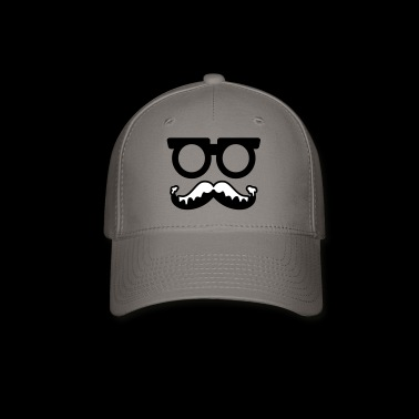 moustache - glasses - santa - Baseball Cap