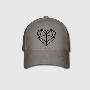 Geo Heart - Love - Baseball Cap