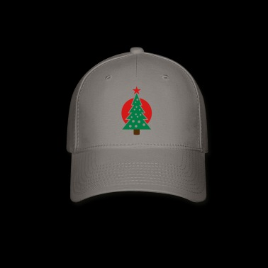 christmas tree with circle - Baseball Cap