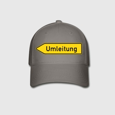 Umleitung Left - German Traffic Sign - Baseball Cap