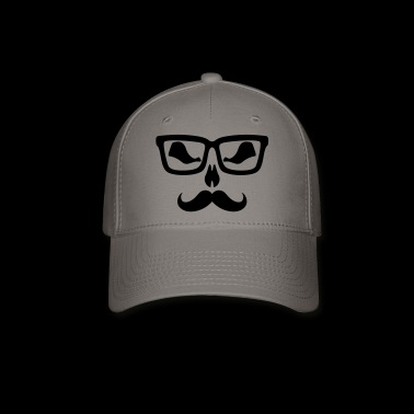 Moustache glasse scary - Baseball Cap