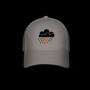 thunderstorm and rain - Baseball Cap