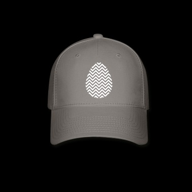 Easter Egg Chevron White - Baseball Cap