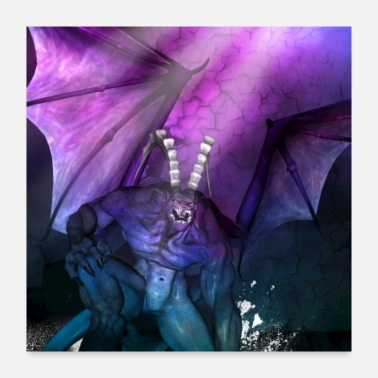 Creature Awesome fantasy creature with wings - Poster 24x24