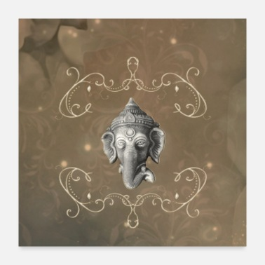 God Hindu elephant god Ganesh - Poster