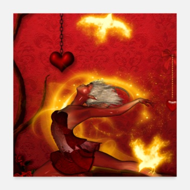 Fire Wonderful fairy of fire - Poster 24x24