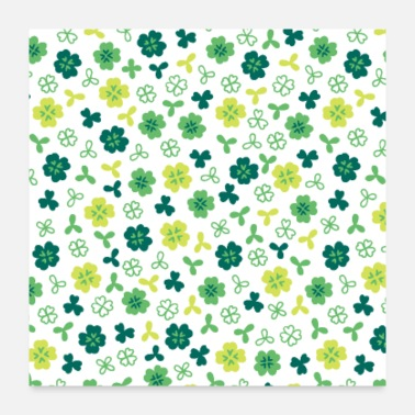 Celebrate St Patricks Pattern - Poster 24x24