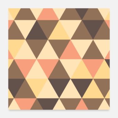 Funky Melting Gold Geometric Pattern - Poster 24x24