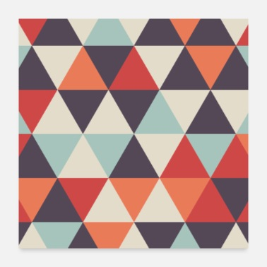 Beautiful Funky Geometric Pattern - Poster 24x24