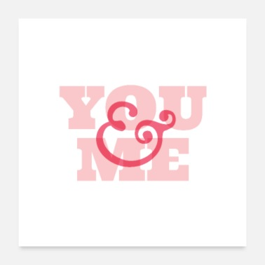 Running You And Me Typography - Poster 24x24