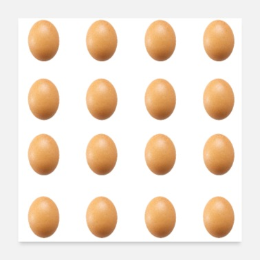 Social World Record Egg Seamless Pattern - Poster 24x24