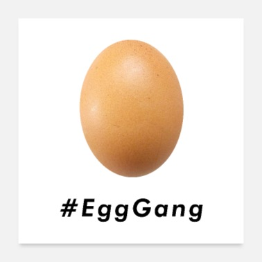 Trend World Record Egg Gang Hashtag - Poster 24x24