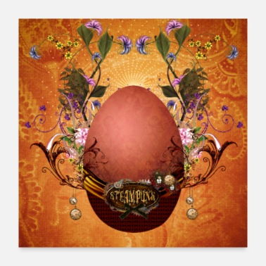 Easter Bunny Wonderful steampunk easter egg - Poster 24x24