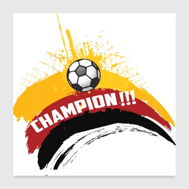 Germany wins present - Poster 24x24