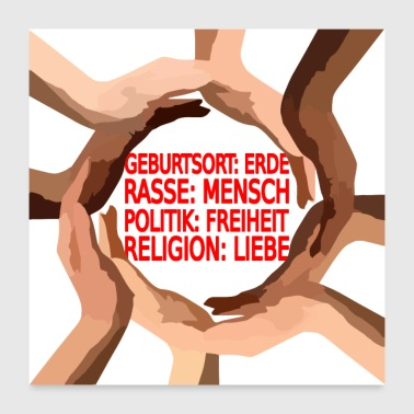 Religion Stop racism - Poster 24x24