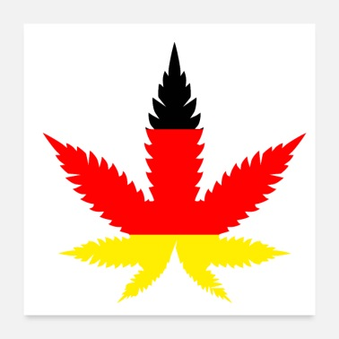 Germany Germany cannabis leaf - Poster