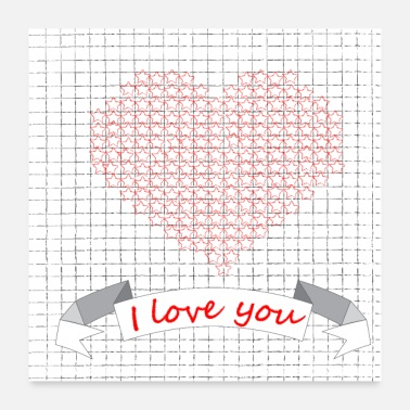 Love You I love you - Poster 24x24