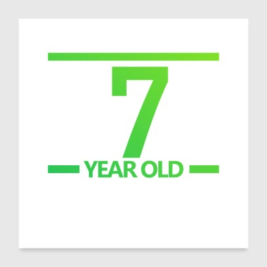 Old 7-year old Logo - Poster 24x24