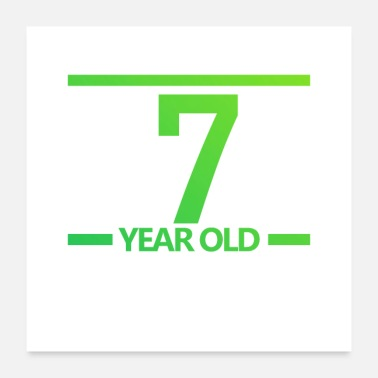 Old School 7-year old Logo - Poster