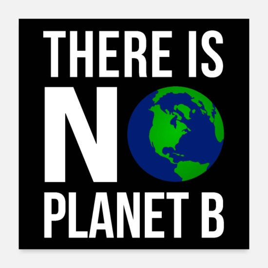 Climate Posters - There Is No Planeb B - Earth Day | Poster - Posters white