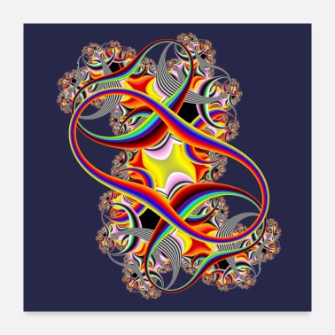 Mathematics Double Infinity Fractal in Full Spectrum of Color - Poster 24x24