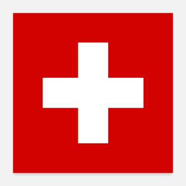 Switzerland Switzerland flag - Poster 24x24