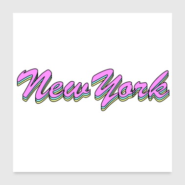 Ny New York Retro - Poster 24x24