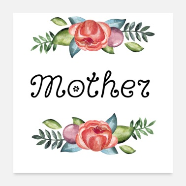 Mothers Day Flowers, mother - Poster 24x24