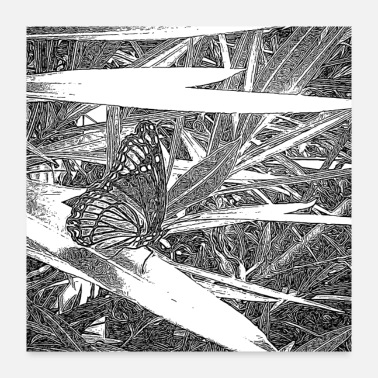 Rest Wild Butterfly Sketch - Poster