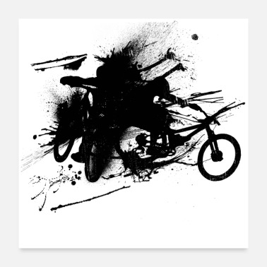 Cycling MTB Inks - Poster 24x24