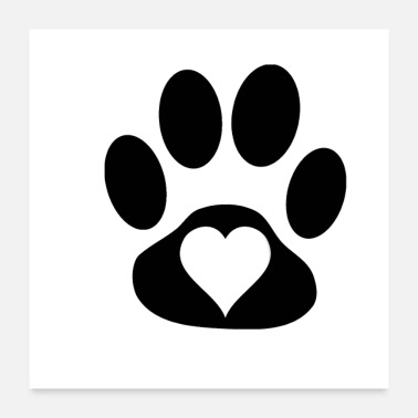 Heart heart in paw - Poster 24x24