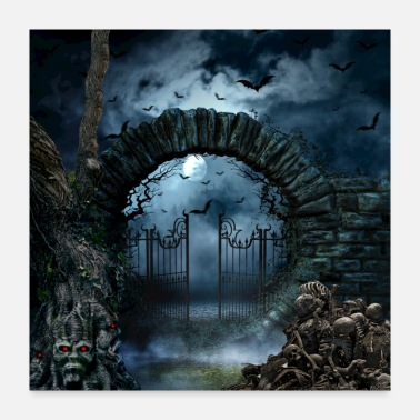 Monster scary gate - Poster