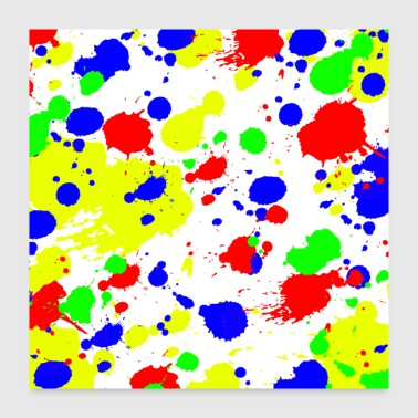 Simple Colorful paint Splatter Pattern. - Poster 24x24