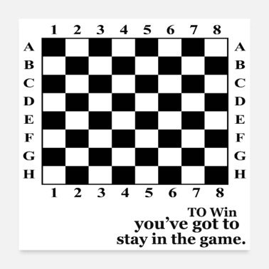 Win TO WIN YOU HAVE TO STAY IN THE GAME - Poster