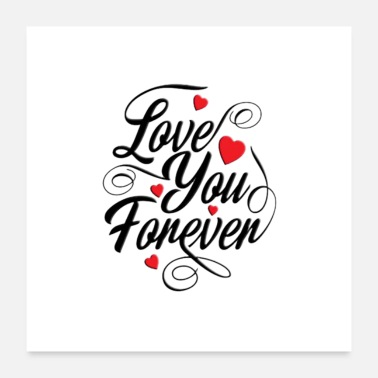 Typography forever for you - Poster