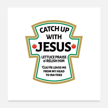 Bible catch up with Jesus,Christian Bible - Poster 24x24