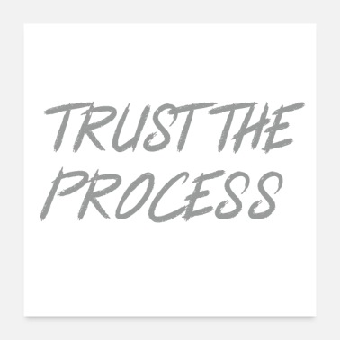 Motivational Trust The Process Workout Motivational Design - Poster 24x24
