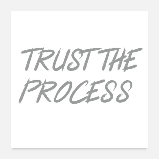 Role Posters - Trust The Process Workout Motivational Design - Posters white