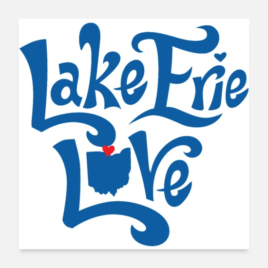 Love Posters - Lake Erie Love - Posters white