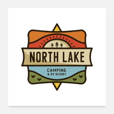 Wilderness North Lake Camping - Poster 24x24
